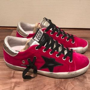 Golden Goose Superstar Sneakers Velvet Pink Sz 36